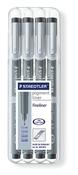STAEDTLER pigment liner fineliner black, set of 4
