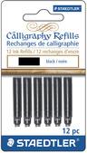 STAEDTLER calligraphy refill black, 12pk