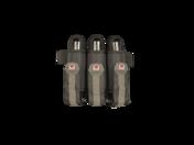 3 Pack Harness w/Belt - Black