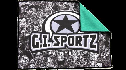 Micro Fiber Cloth - Grey Zombie/Green Back picture