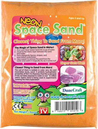 Neon Space Sand 1 lb Orange picture