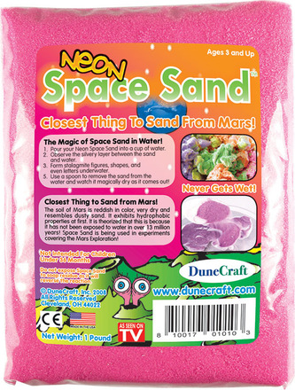 Neon Space Sand 1 lb Pink picture