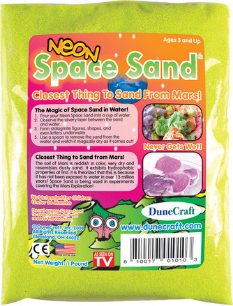 Neon Space Sand 1 lb Yellow picture