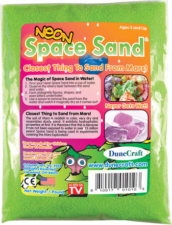 Neon Space Sand 1 lb Green picture