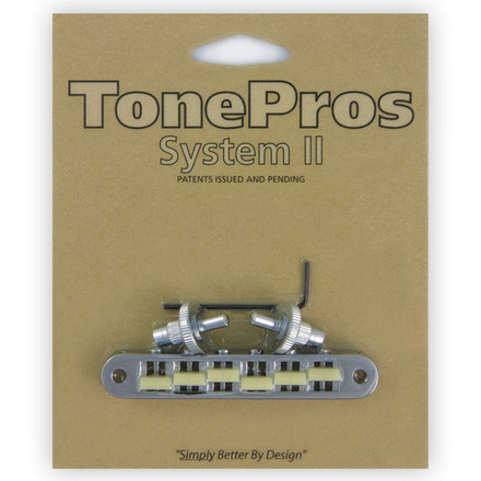 """TP6G - TonePros Standard Tuneomatic (small posts, notched """"G Formula"""" saddles) picture"""