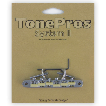 """AVR2G - TonePros Replacement ABR-1 Tuneomatic with """"G Formula"""" saddles picture"""