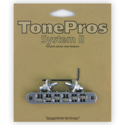 """TP6R - TonePros Standard Tuneomatic (small posts, """"Roller"""" saddles) picture"""
