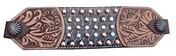 Copper and Crystal Spots Bronc Noseband