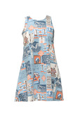 Aloha Girls Dress Aqua