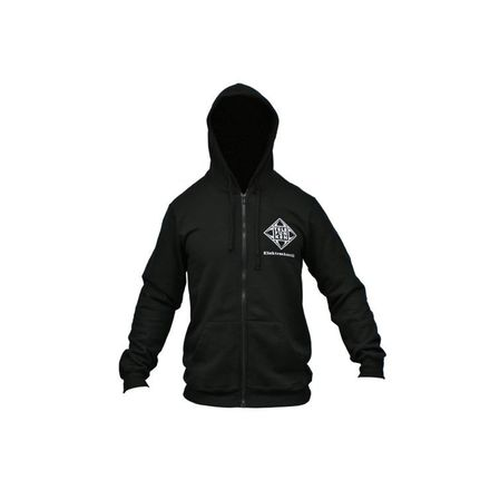 Hoodie Zip Down Black picture