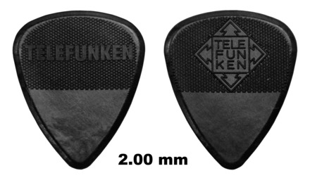 2mm Thick Diamond Guitar Picks (6 pack) picture