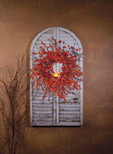 LIGHTED BITTERSWEET WREATH SHUTTER
