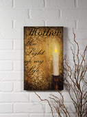 LIGHTED MOTHER CANVAS