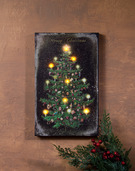 LIGHTED VINTAGE CHRISTMAS TREE CANVAS