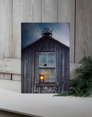 LIGHTED OLDE SCHOOL HOUSE CANVAS