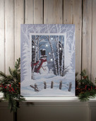 LIGHTED SNOWBALL CANVAS