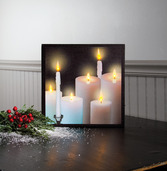 LIGHTED TAPERS AND PILLARS CANVAS