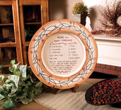 HAPPY MARRIAGE STONEWARE PLATE