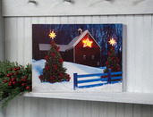 LIGHTED BARN STAR CANVAS
