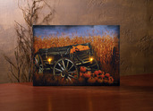 LIGHTED HARVEST WAGON CANVAS