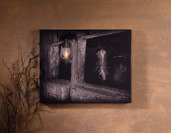 LIGHTED STALL LANTERN CANVAS