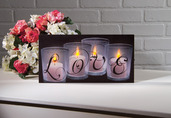 LIGHTED LOVE BY CANDLE LIGHT CANVAS