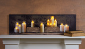 LIGHTED MANTEL OF CANDLES CANVAS