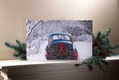 LIGHTED WINTER CLASSIC CAR CANVAS