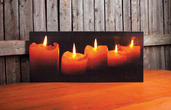 LIGHTED CANDLE CANVAS