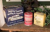 OLD ADVERTISING FOOD TINS  SET OF 3