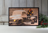 LIGHTED MERRY CHRISTMAS CANVAS
