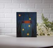 LIGHTED FIREFLY JAR CANVAS