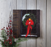 LIGHTED CHRISTMAS WINDOW CANVAS