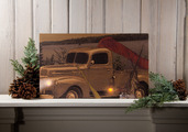 LIGHTED GONE FISHING CANVAS