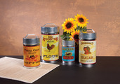 VINTAGE FOOD SAFE CANISTER SET OF 4