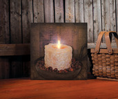 ROSEHIPS LIGHTED CANDLE CANVAS