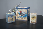 FRENCH COUNTRY ROOSTER TINS SET OF 3