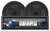 "MCP103B- Digital Media Receiver with SD Card, USB Inputs and 6.5"" Speakers"