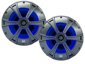 "DMS8027 - 8"" 2-Way Marine Speakers   with Blue illumiNITE™ LED Lighting"