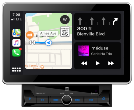 "DMCPA11BT - 10.1"" Media Receiver with Apple CarPlay and Android Auto picture"