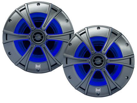 "DMS8027 - 8"" 2-Way Marine Speakers   with Blue illumiNITE™ LED Lighting picture"