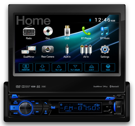 DV735MB -  DVD Receiver with Built-In Bluetooth® and 2-Way DualMirror™ picture
