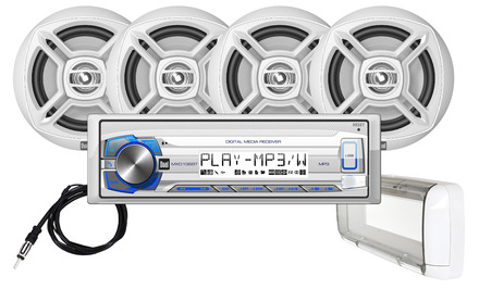 "MCP1364BTS  - Digital Media Receiver, Bluetooth®, Splashguard and (4) 6.5"" Speakers picture"