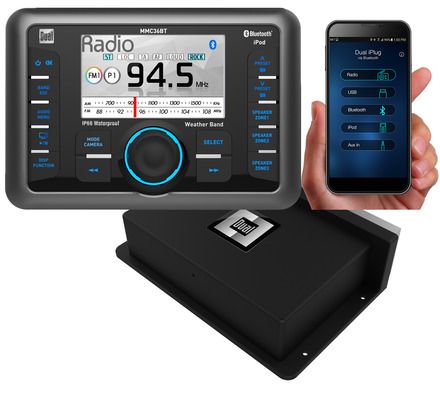 MMC36BT - Media Control Center with Bluetooth, 3-Zone Speaker Selector, Control for iPhone/iPod, Weatherband Tuner, 480 Watts (60W x 8) and iPlug Smart App Control picture