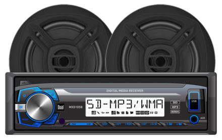 "MCP103B- Digital Media Receiver with SD Card, USB Inputs and 6.5"" Speakers picture"