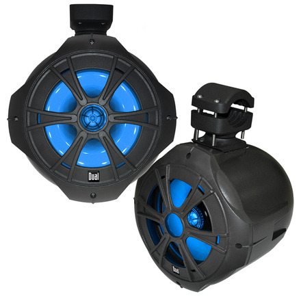"DMW807 - 8"" 2-Way Wakeboard Tower Speakers with Blue illumiNITE™ LED Lighting picture"