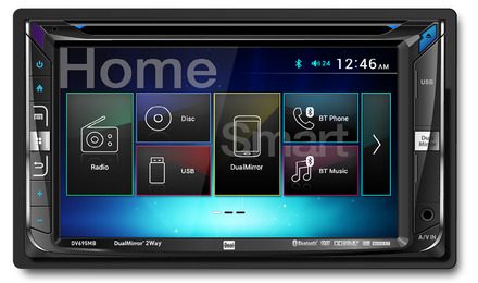 DV695MB - DVD Receiver with Built-In Bluetooth® & 2-Way DualMirror™ Technology picture