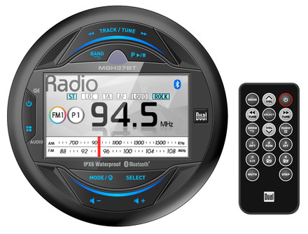 "MGH37BT - Gauge Hole Media Receiver with 3"" LCD, Bluetooth® and iPlug Smart App Control picture"