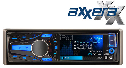 "AXD430 - Multi-Format CD Receiver with 3"" QVGA LCD picture"