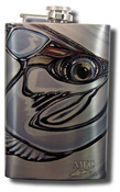 Stainless Steel Hip Flask - Borski's Tarpon and Fly